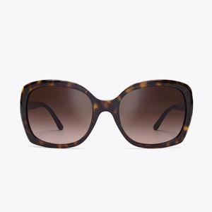 Tory Burch Gemini Tortoiseshell Sunglasses